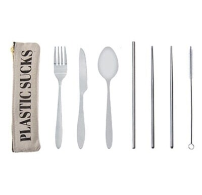 Plastic Sucks Cutlery Set