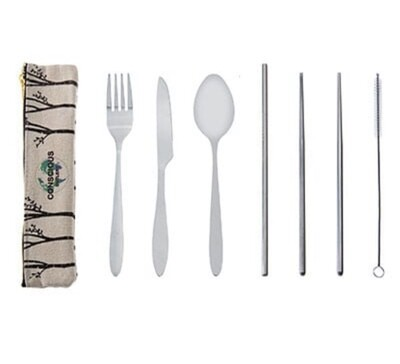SAVE THE TREES Stainless Mobile Set