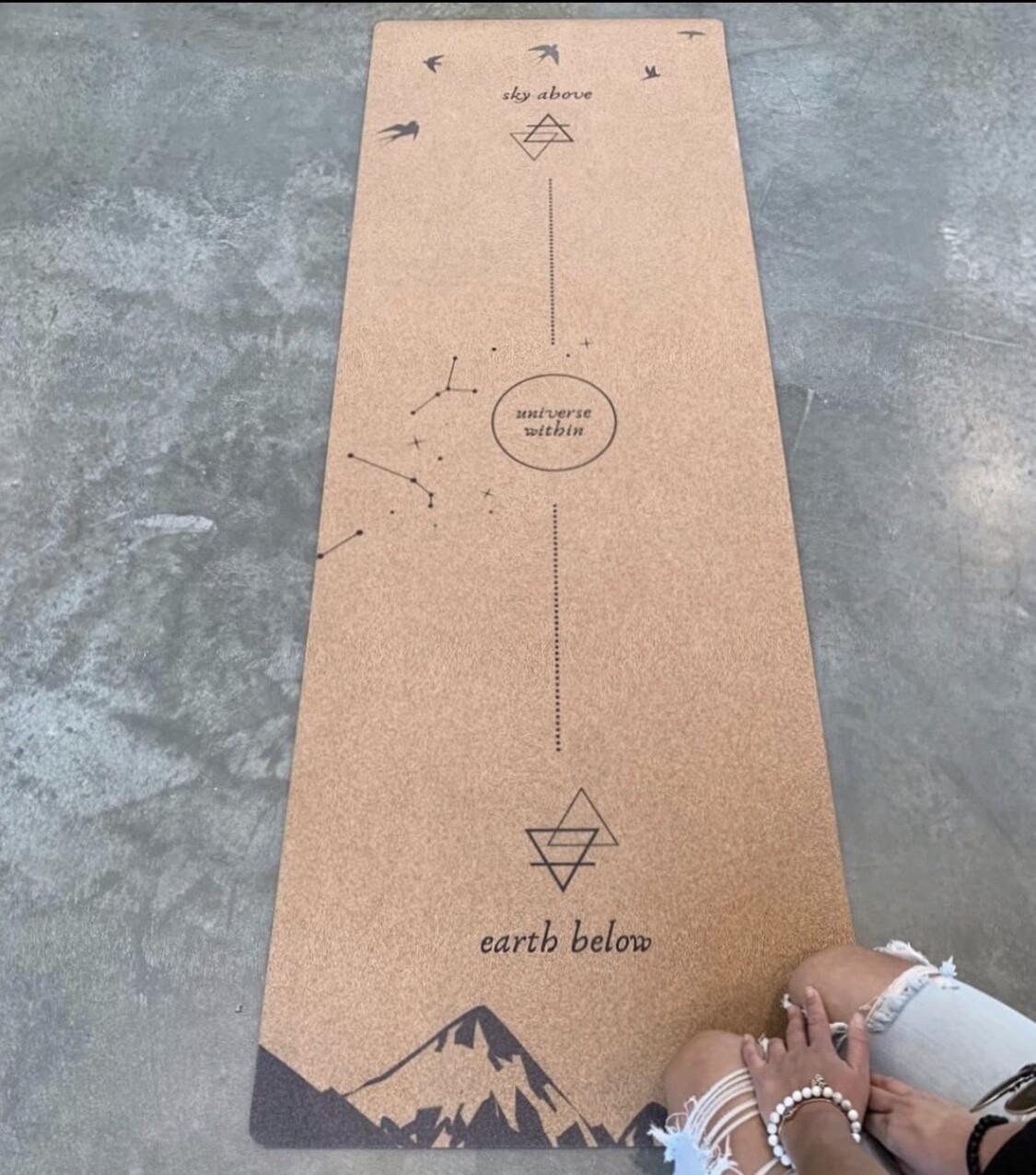 Universe Within Cork Yoga Mat