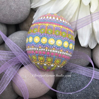Hand Painted Easter Egg Rock