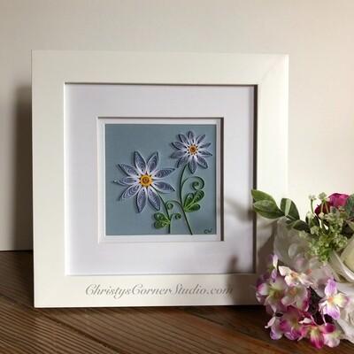 Quilled Daisy Flower Framed Artwork