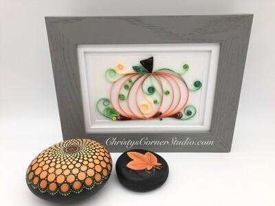 Quilled Pumpkin Framed Artwork