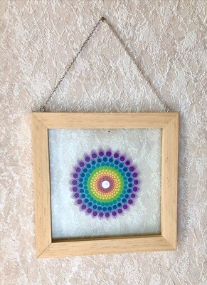 Framed Glass Mandala Artwork