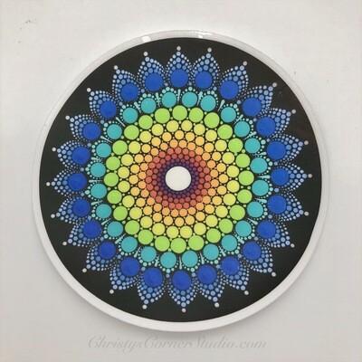 Rainbow Mandala Vinyl Sticker