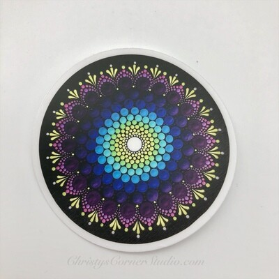 Purple and Blue Mandala Vinyl Sticker