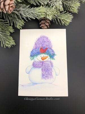 Snowman Note Card