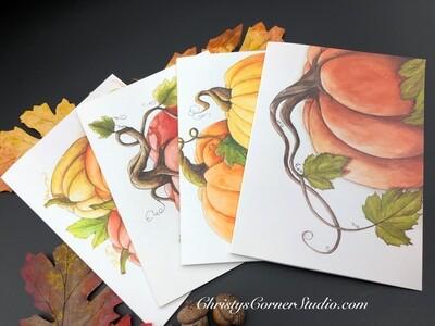 Pumpkins Note Card Set