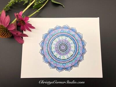 Mandala Note Card