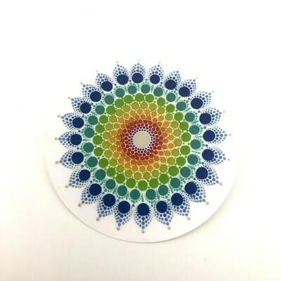 Rainbow Mandala Clear Vinyl Sticker