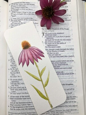 Purple Coneflower Bookmark