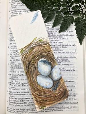 Bird Nest Bookmark