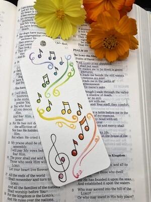 Music notes Bookmark