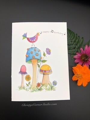 Happy Birthday Birdie Card