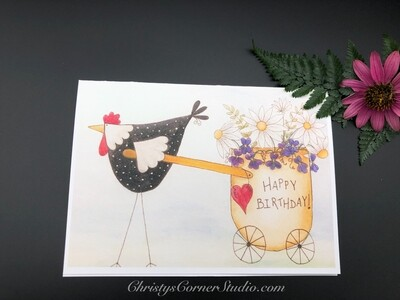 Happy Birthday Chicken Card