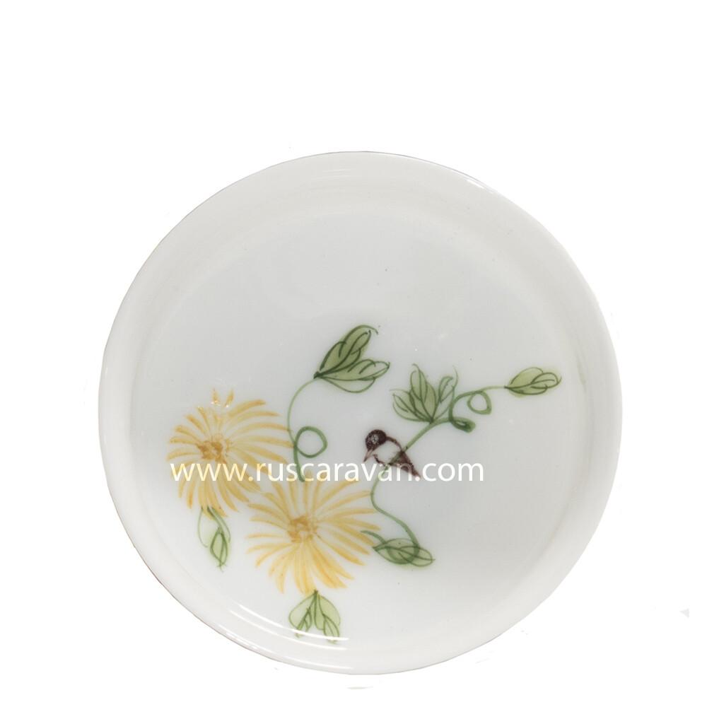 """205008-2 Пиала для чайной пары """"Птица на желтом цветке"""", фарфор"""