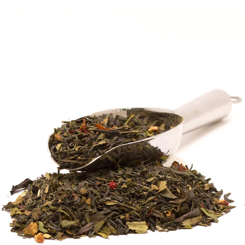 """7744 Чай зеленый ароматизированный """"Белый дракон"""""""