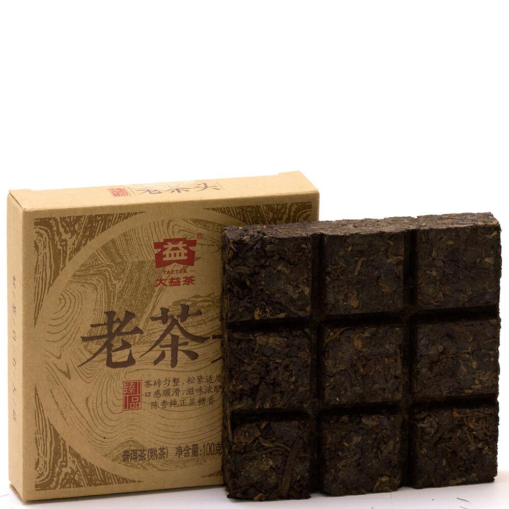1029к Чай черный прессованный Лао Ча Тоу (100 гр)