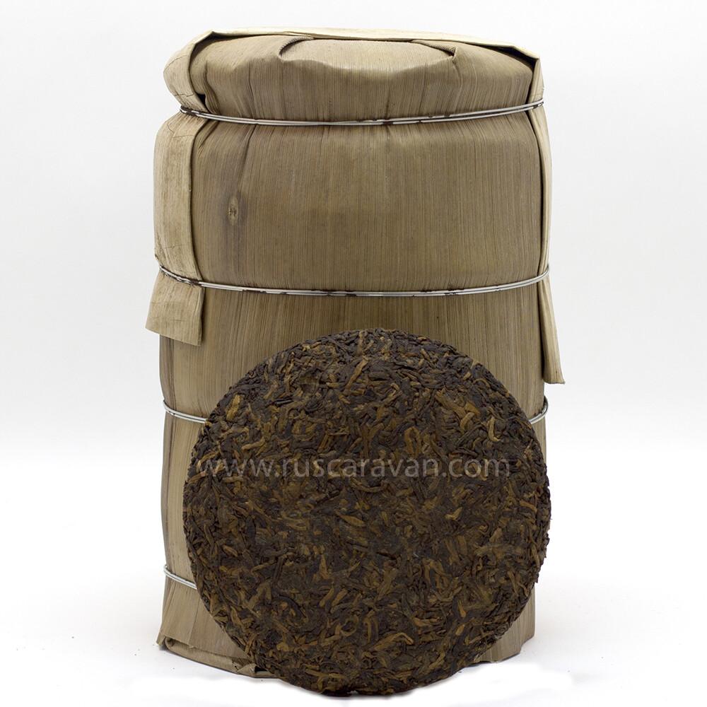 """1025к Чай прессованный черный Пуэр Шу """"Цзинлун №1""""  (мини бин, 100 гр)"""