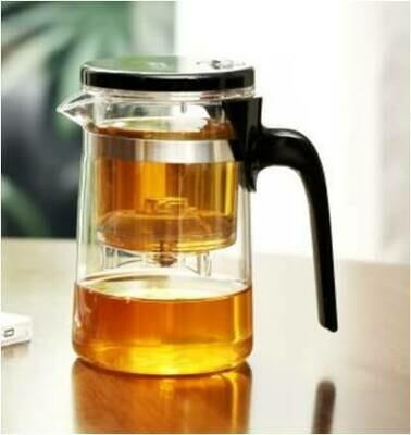 213031 Чайник изипот SAMADoyo  500мл, стекло/пластик. Без носика, съемная крышка. Высота 14, дм 8