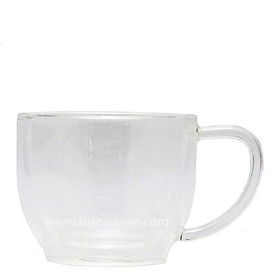219022 Чашка с ручкой YF-6305,  220 мл, стекло