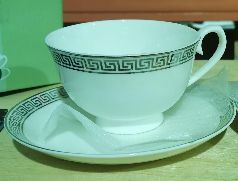 """1428584 Набор чайный """"Афродита"""" кружка 250 мл, блюдце, подар.коробка, фарфор"""