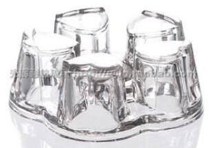 237045 Подставка под чайник (для греющей свечи). Стекло, диаметр 13см, высота 5,5см
