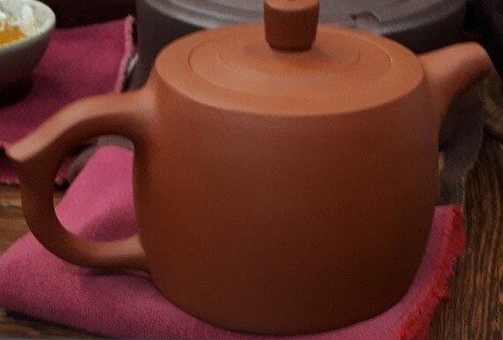 """258001 Чайник ИСИН """"Цзинь Лань"""" (Башня""""), 280 мл, цвет - красный, исинская глина"""