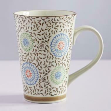 """263023 Чашка XXL 0,5л """"Королева хризантем"""", японская роспись, керамика, высота 13см, диаметр 10см"""