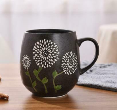 """263029 Чашка XXL 0,5л """"Одуванчики"""", японская роспись, керамика. Высота 10см"""