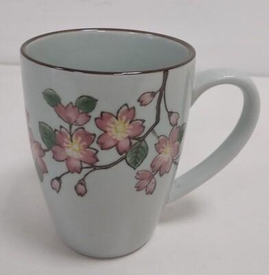 """263026 Кружк XL 0,3л """"Цветы персикового дерева"""", японская роспись, керамика, высота 9,5; диаметр 7,5"""
