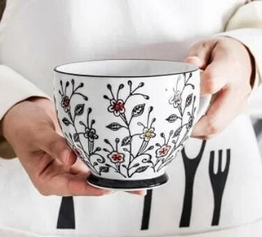"""263010 Чашка XL 0,4л """"Цветочный луг"""", японская роспись, керамика, высота 8 см, диаметр 10,5 см"""