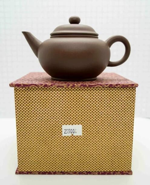 "259004 Чайник ИСИН ""Шуйпин - Уровень"" 200мл, глина коричневый"