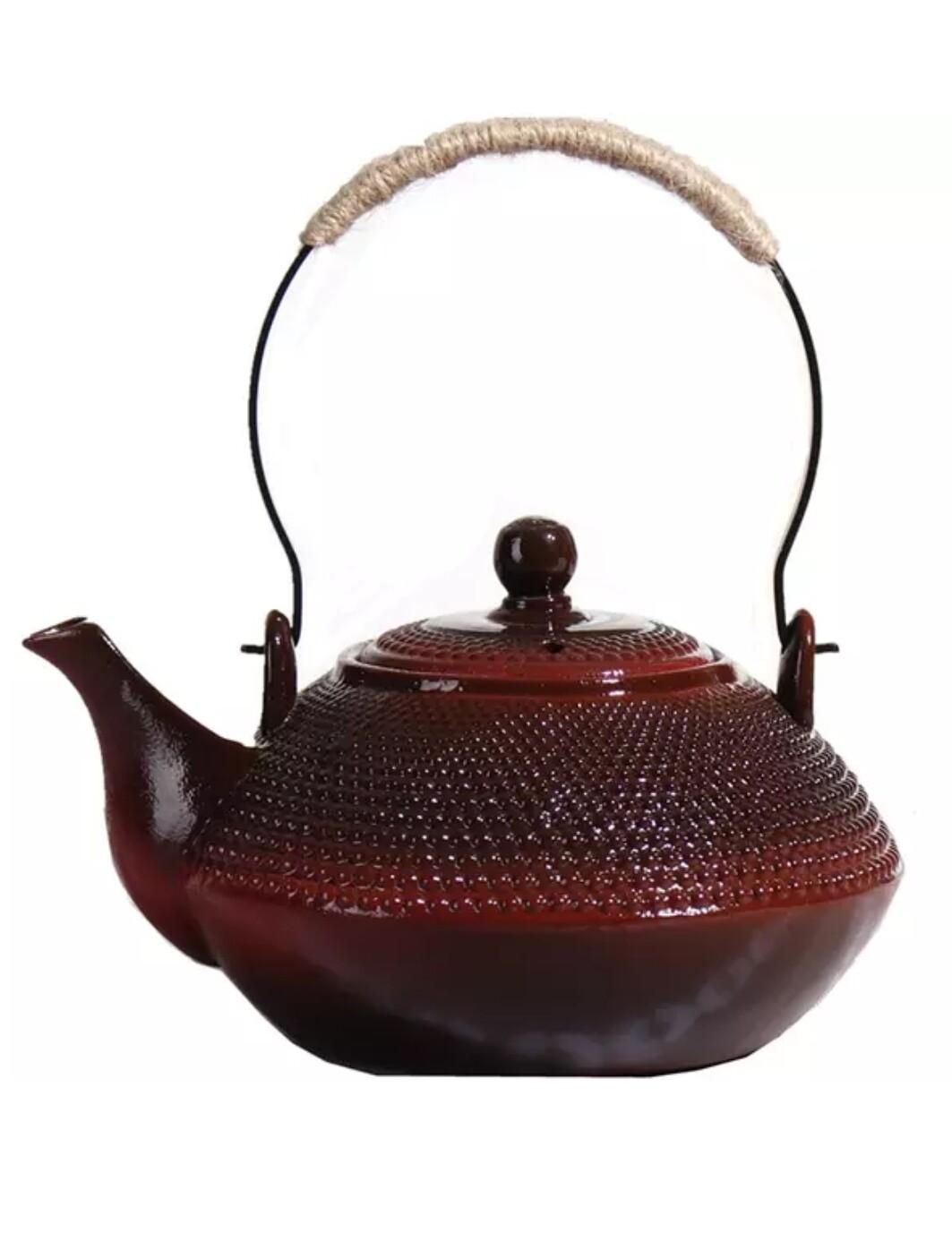 249018 Чайник 0,9л, красная глина