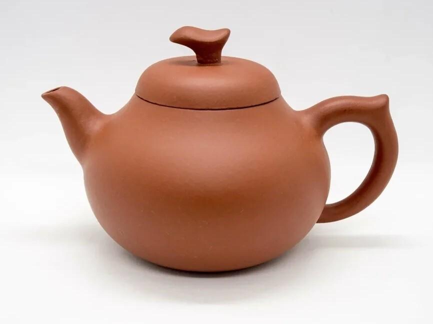 """258008 Чайник ИСИН """"Груша"""", 300 мл, исинская глина, цвет - красный"""