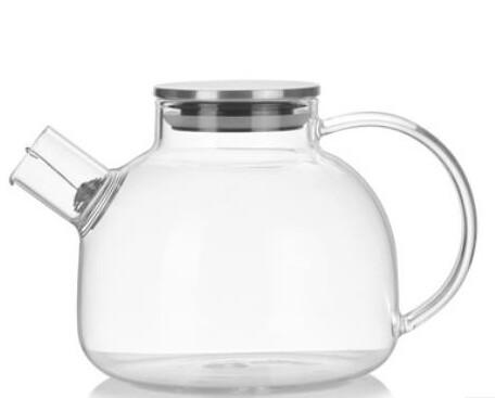 256003 Чайник 1000 мл, стекло (боросиликатное), с пружинным ситом. Металлическая крышка
