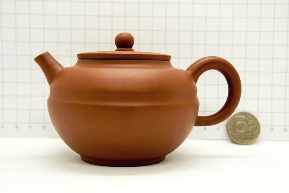 """259021 Чайник ИСИН """"Сянь Юань (Линия по кругу)"""" 280мл, цвет коричн.Слив в форме полусфер"""