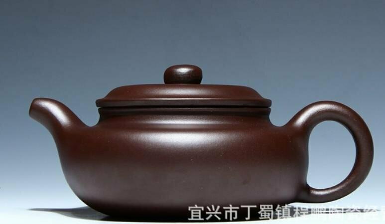 "257047 Чайник ИСИН ""Бяньфу Фангу"" (""Плоский живот фангу"") исинск глина, темно-коричневый"