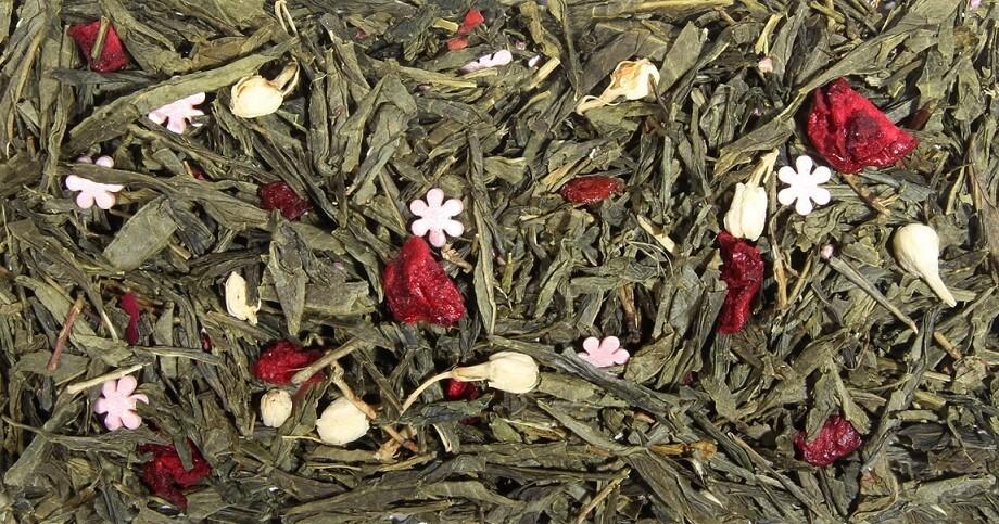 """7644D Чай зеленый ароматизированный """"Цветущая сакура"""""""