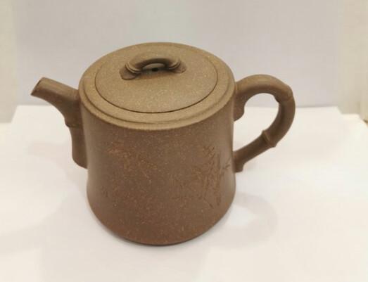 """259020 Чайник ИСИН """"Чжуцзе - Коленце бамбука"""" 240мл, глина бежевый"""