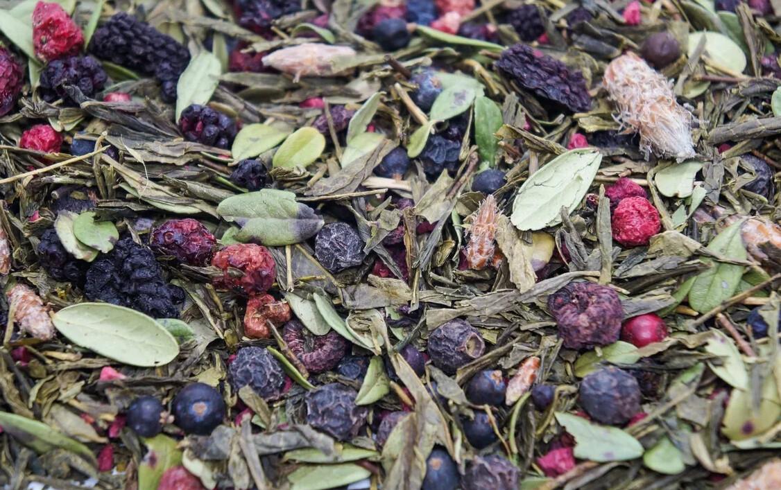 """7724D Чай зеленый ароматизированный """"Таежный сбор"""""""