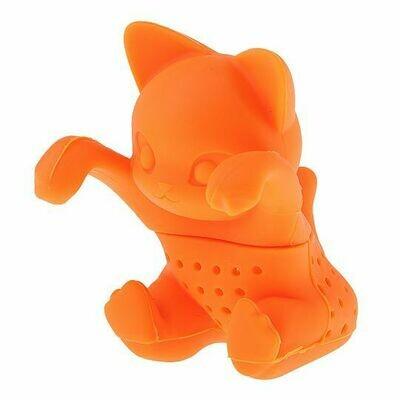 260009 Ситечко Кошка/ Оранжевая, силикон