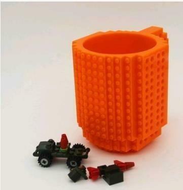 """281001 Кружка """"ЛЕГО"""" h=12см, d=9,6см, пластик оранжевый"""
