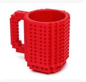 """281001.5 Кружка """"ЛЕГО"""" h=13см, d=10см, пластик красный"""