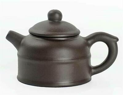"""243052.3 Чайный талисман КРОШКА """"ДэЧжун- Колокол Добродетели"""" h=4см, l=6,5см, 18мл, глина коричневый"""
