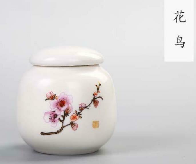 "266044 Чайница ""Сакура"" h=6,5см, d=6,6см, фарфор белый"