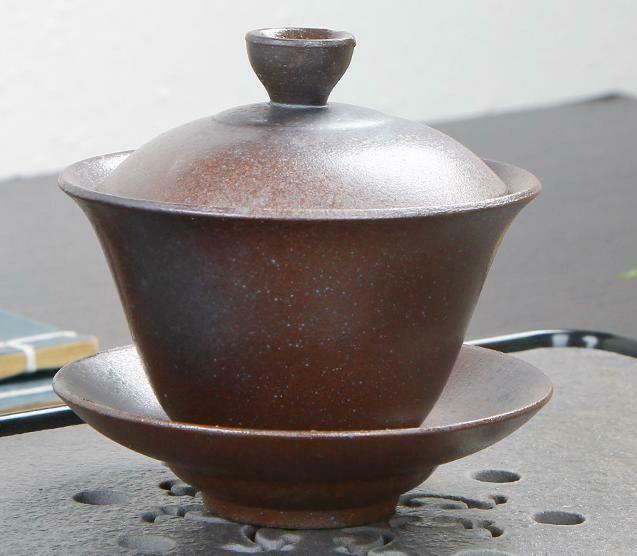 """268100.2 Гайвань ОБЖИГ В ПЕЧИ """"Узкая"""" имит.обжига h=9,5см, l=10см, 150мл, керамика мат.коричневый"""