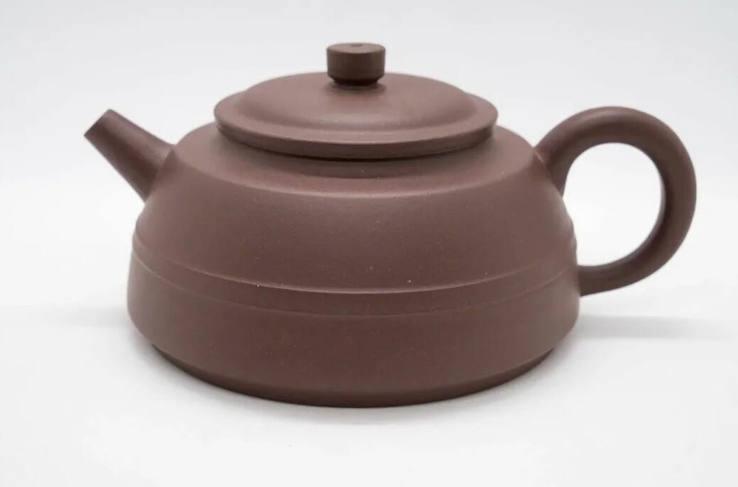 """259038 Чайник ИСИН """"Сянь Юань - Линия по кругу"""" 250мл, глина коричневый"""