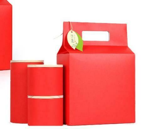 """269023.2 Коробка подар. """"Red"""" БЕЗ БАНОК  для 4 мал.банок 269019b h=30см, размер=21*11см, картон"""