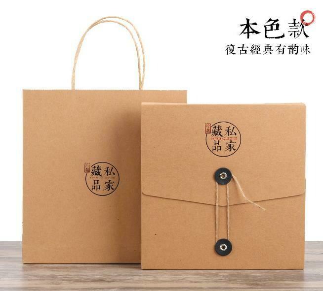 "269039.3 Набор подар. ""Для блина 357 гр"" коробка, сумка, h=22см, размер=21,5*3,7см, картон крафт"