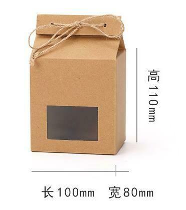 "269041 Коробка подар. ""№532"" с окном, с бечевкой, h=11см, размер=10*8см, картон крафт"